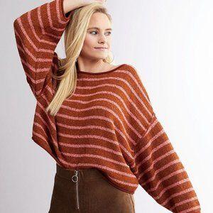 New Free People Bardot Drop Shoulder Sweater